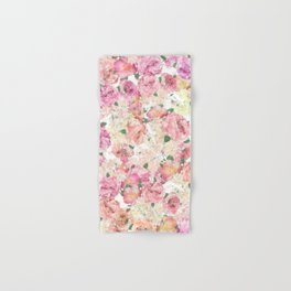 Flowers, Floral Explosion, Floral Pattern, Pink Flowers Hand & Bath Towel