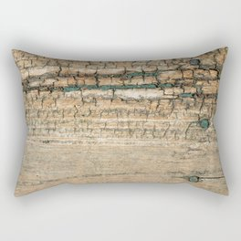 Rustic Wood Turquoise Paint Weathered and Aged to perfection Rectangular Pillow