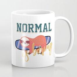 Super Surf Sloth Fun-Normal Is Boring Coffee Mug