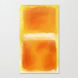 Mark Rothko Interpretation Orange On Orange Canvas Print
