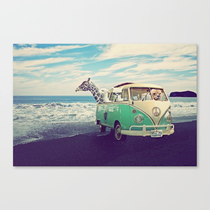 never stop exploring the beach canvas print by monikastrigel society6