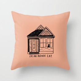Indoor Cat (house) Throw Pillow