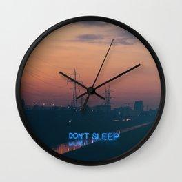 don't sleep Wall Clock