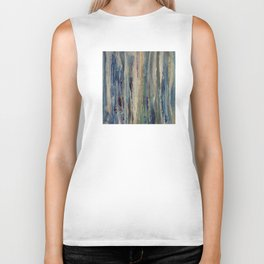 Abstract Forest at Sunset Biker Tank