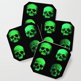 Skull quartet green Coaster