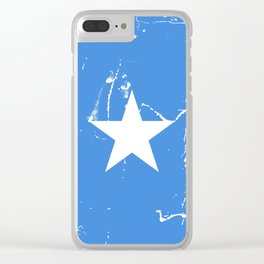 Somalia flag with grunge effect Clear iPhone Case