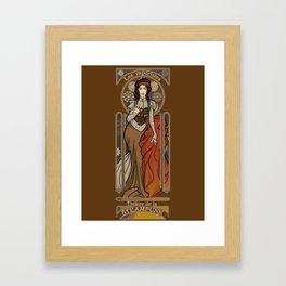 Steampunk Nouveau- Brown Framed Art Print