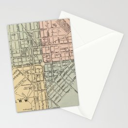 Vintage Map of Lancaster PA (1864) Stationery Cards