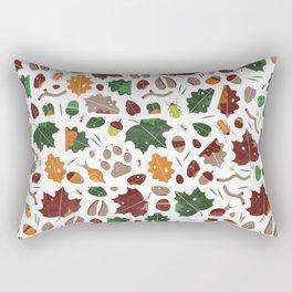 Forest floor tile pattern Rectangular Pillow