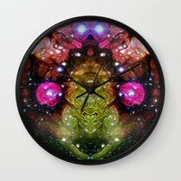 interstellar Wall Clocks featuring Interstellar by Mark Kriegh