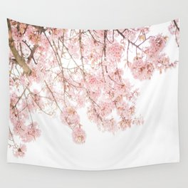 Pink Blooming Cherry Trees Wall Tapestry