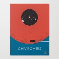 chvrches Canvas Prints featuring Chvrches - Record by Derek Brown