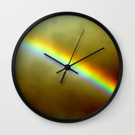 in rainbows Wall Clock