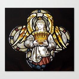 Angel & Holy crown Canvas Print