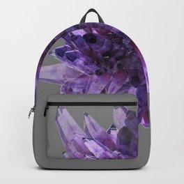 PURPLE AMETHYST QUARTZ CRYSTALS MINERAL SPECIMEN Backpack