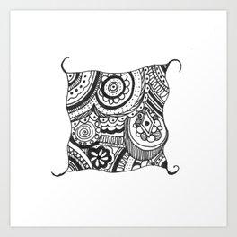 Peeking Through Art Print