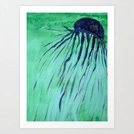 Jellyfish in Turquoise Art Print