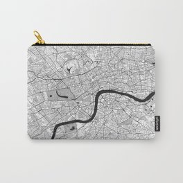 London Map Gray Carry-All Pouch