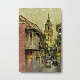 Vintage Grunge Urban View of Cartagena Architecture Metal Print