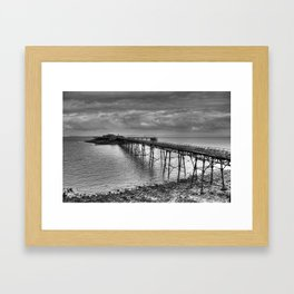 Birnbeck Pier, Weston-super-Mare Framed Art Print