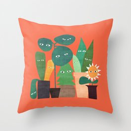The plants are watching (paranoidos maximucho) Throw Pillow