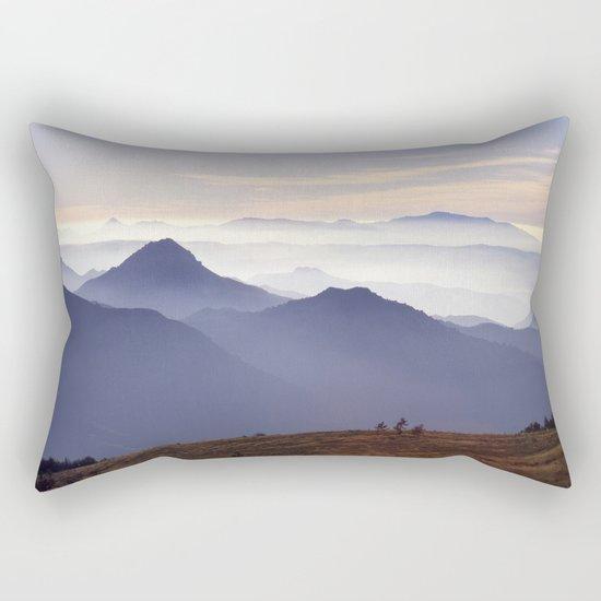 """""""Sunset at the mountains III"""" Rectangular Pillow"""