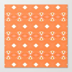 Geo Triangle Orange 3 Canvas Print