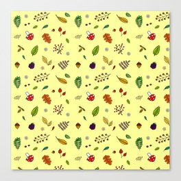 Autumnal Pattern Canvas Print