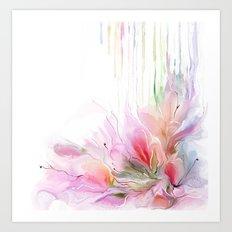 garden summer flowers  Art Print