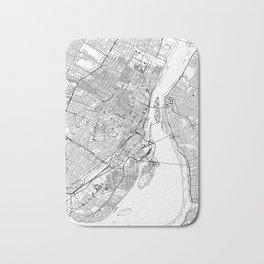 Montreal White Map Bath Mat