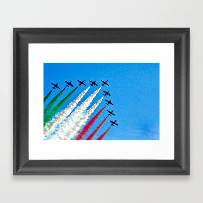 Frecce Tricolori Framed Art Print