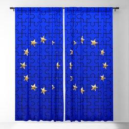 European Union Flag Jigsaw Blackout Curtain