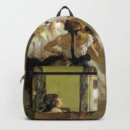 Edgar Degas The Dance Class Backpack