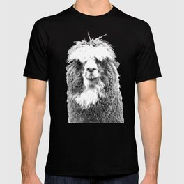 Black and White Alpaca T-shirt