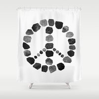 peace Shower Curtains featuring Peace by Elisabeth Fredriksson