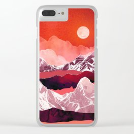 Scarlet Glow Clear iPhone Case