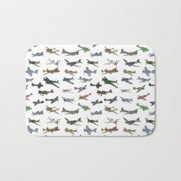 Various WW2 Planes Bath Mat