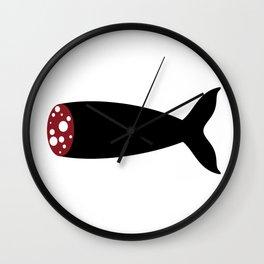 Sausage Fish Wall Clock