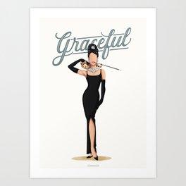 Audrey Hepburn Graceful  Art Print