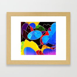 Color Circus Abstract Framed Art Print