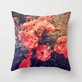 Morning Roses Throw Pillow