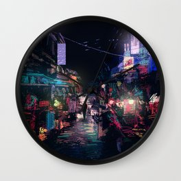 Blues of the Night Wall Clock