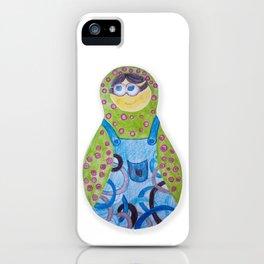 Minion matryoshka iPhone Case