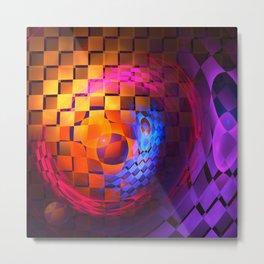 Transformation, fractal geometric abstract Metal Print