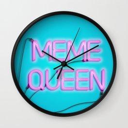 Meme queen Wall Clock