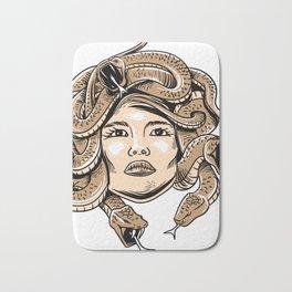 Greek Mythology Shirt - Medusa Head Monster Snake  Bath Mat