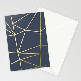 Gold Metallic Nodes 02 Stationery Cards