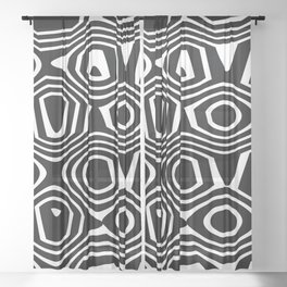 Retro Sheer Curtain