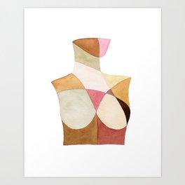The Woman Patchwork Watercolor Print Art Print