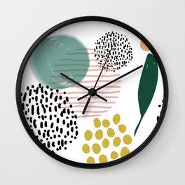 Abstract Modern Pattern 7 Wall Clock